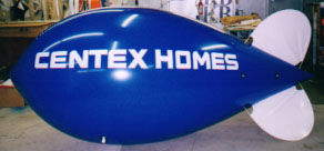 Advertising Blimp - 11ft. Centex Homes logo - Large Balloons increase sales!