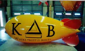 Advertising blimp - 11' blimp with medium complexity artwork. Large balloons made in USA.